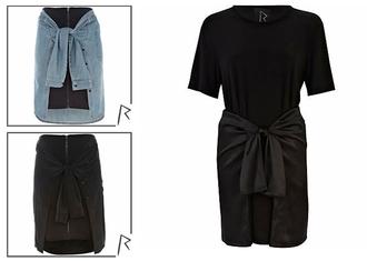 denim skirt grunge rihanna river island streetwear
