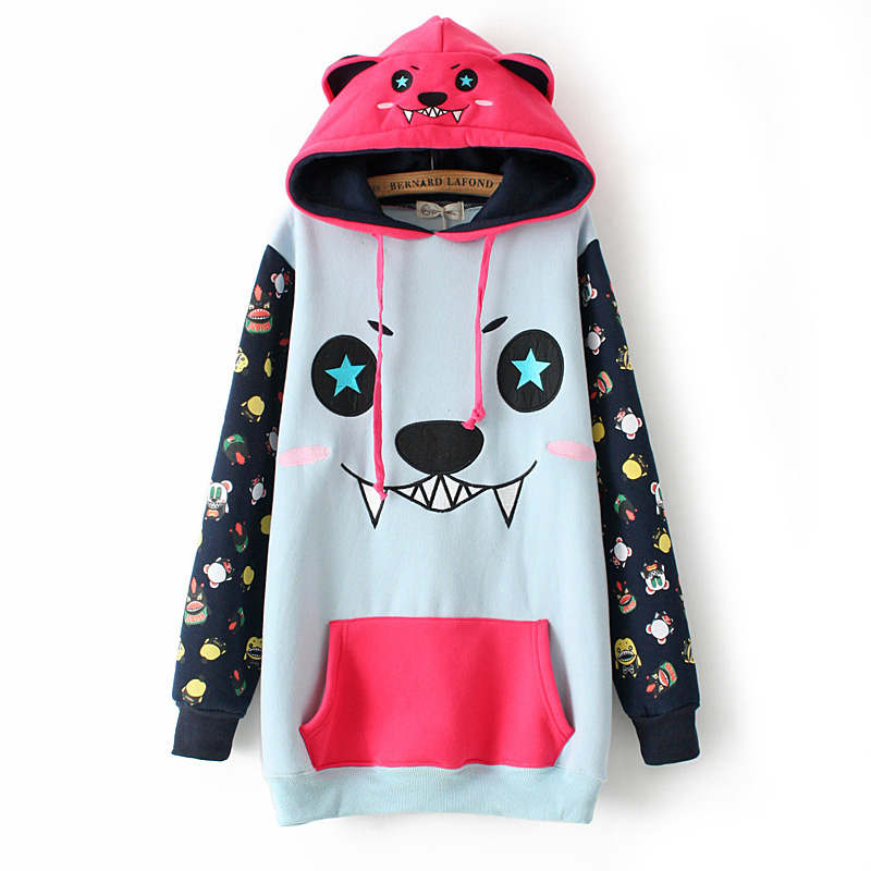 Mixed colors monsters hats fleece hoodies from harajuku fashion on storenvy