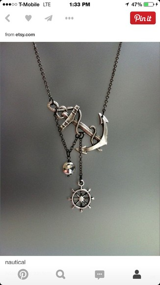 jewels anchor necklace