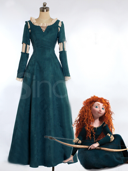 Buy Newly Top Dark Green Brave Princess Merida Cosplay Costume with 89.99-SinoAnt.com