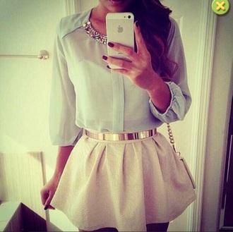 belt blouse