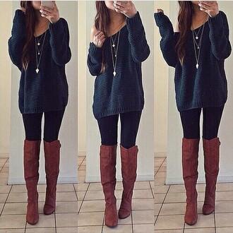 sweater instagram shoes leggings