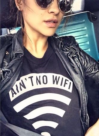 t-shirt black t shirt no wifi