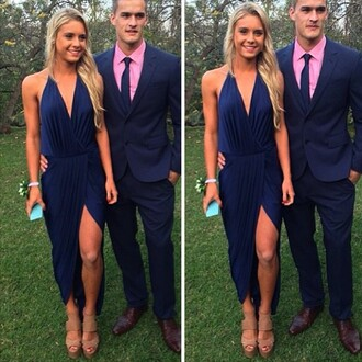 dress blue dress hot sexy instagramfashion blonde hair australia classy classic shoes high heels