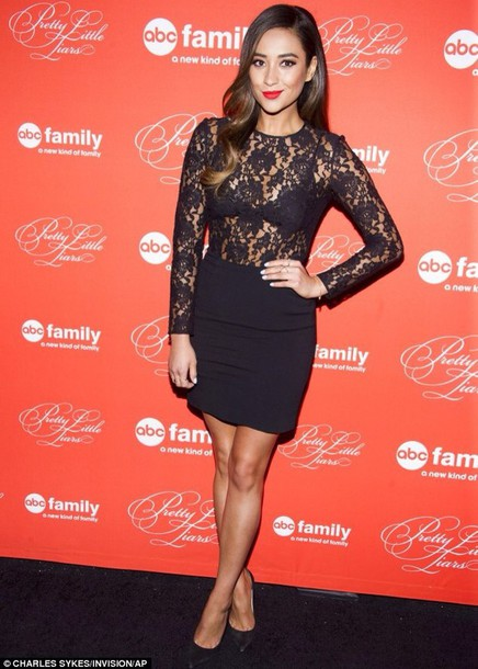 dress shay mitchell black dress