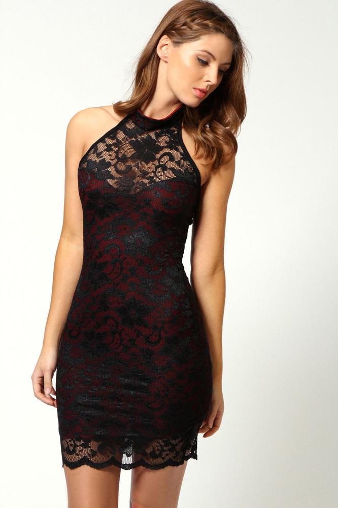 Cute lace flower nice dress