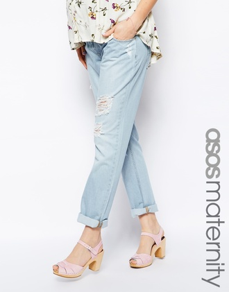 jeans asos maternity boyfriend jean in light bleach wash asos asos maternity boyfriend jeans