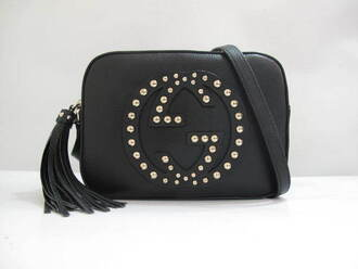 bag gucci gucci bag studded studded bag black black studded bag designer high end bag