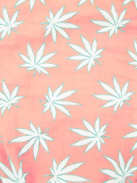 scarf pattern weed pot maryjane mary jane marijuana pink pale