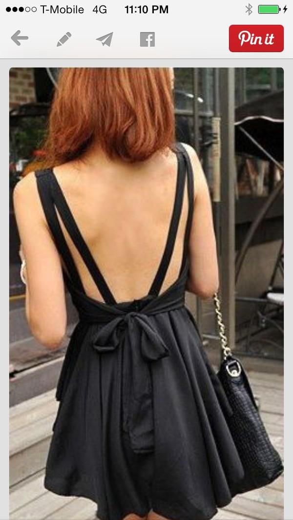 dress black strap