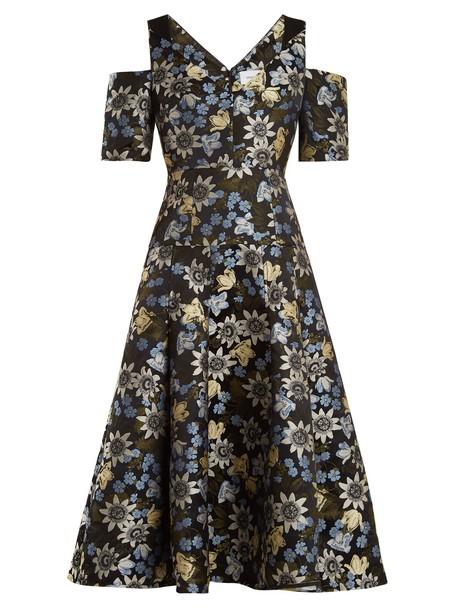Erdem dress jacquard floral black