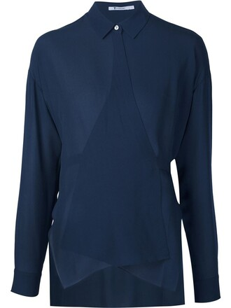 shirt style blue top