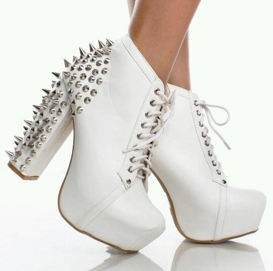 Spiked booties