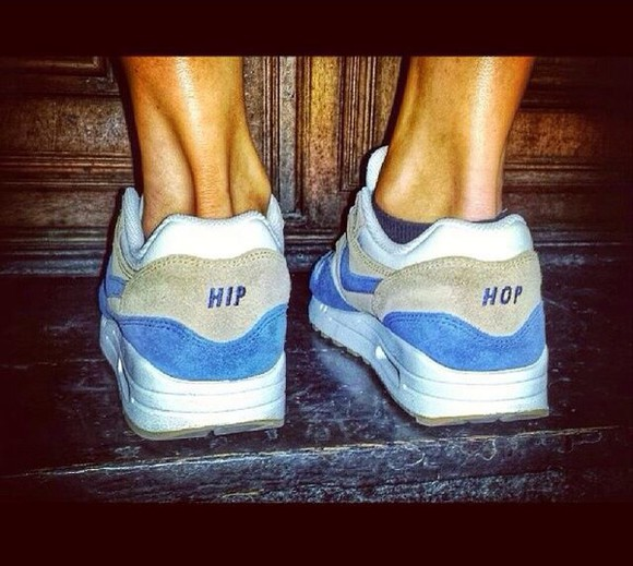 shoes nike nike sneakers blue nike air max 1 air max one hip hop brown nike air max hip hop blue brown white
