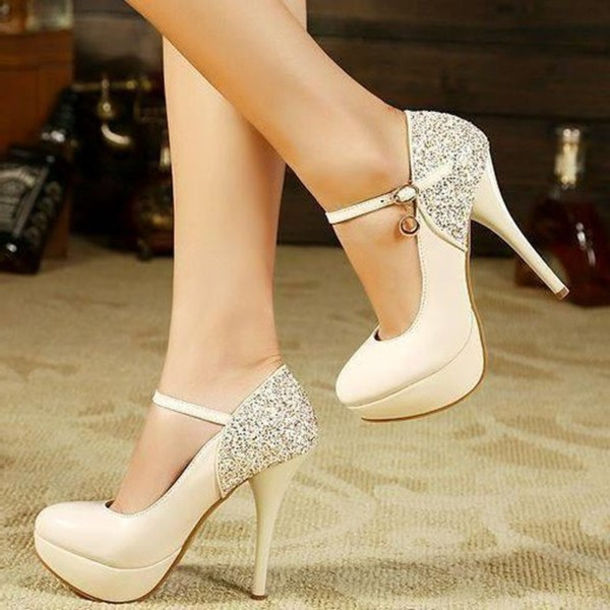 f608d598766 shoes white pumps stilettos heels high heels ankle strap heels ankle strap  love lovely pretty cool