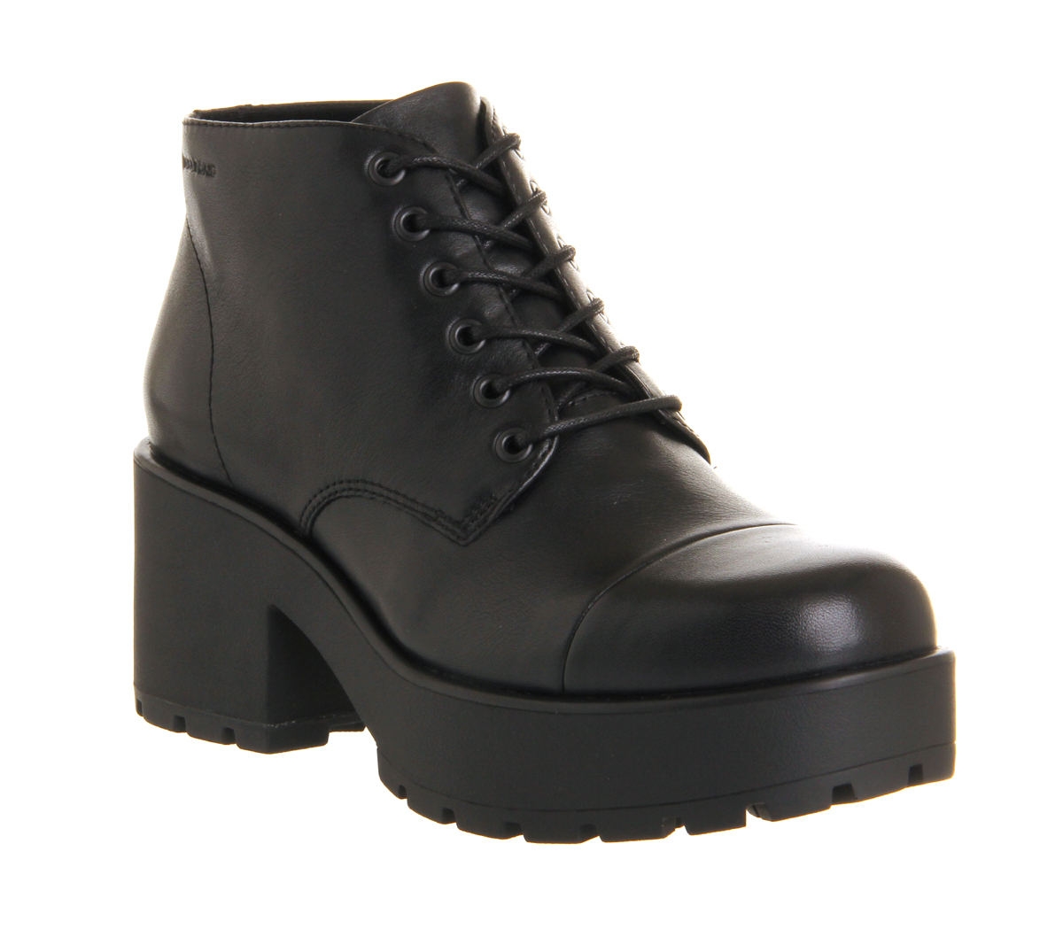 vagabond dioon lace up boot black leather ankle boots