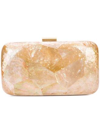 women shell clutch grey metallic bag