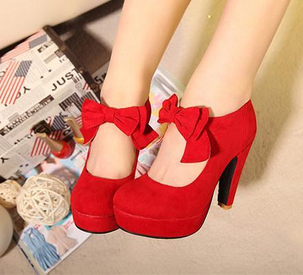 Bowknot cute shoes for girls