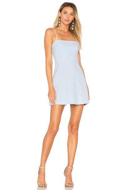 73cef09a90a5d by the way. Vienna A-Line Mini Dress in blue - Wheretoget