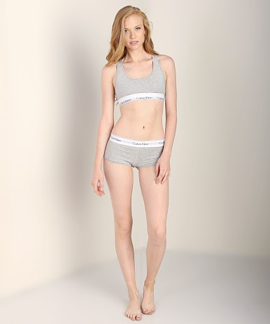 Calvin Klein Modern Cotton Bralette Heather Grey F3785 At
