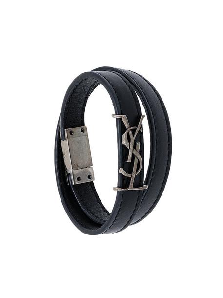 Saint Laurent women leather black jewels