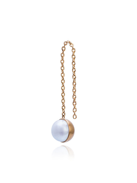 Shihara women pearl gold grey metallic jewels