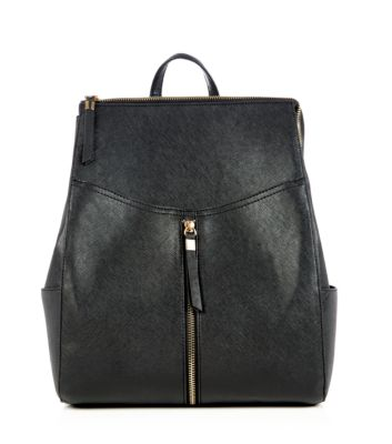 Black Formal Zip Front Backpack