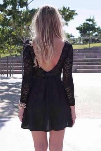 dress black dress bow dress mini dress
