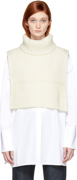 Ports 1961 turtleneck white sweater