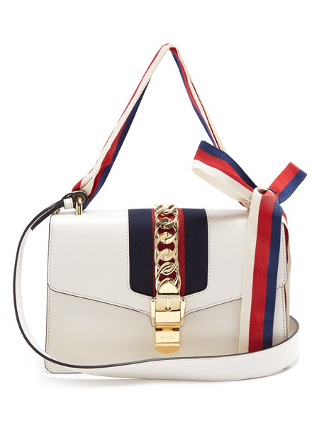 gucci bag shoulder bag leather white