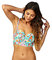 Raisins in full flower floral beachy underwire bustier top