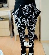 pants,grunge,black,black and white,goth,street goth,gothic grunge,gothic pants,kawaii grunge,creepy kawaii,hello kitty,dark,dark grunge,kawaii dark,black pants,printed pants