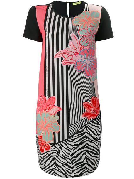 Versace Jeans dress print dress women spandex floral print black
