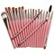 20pcs makeup brushes set kit blush foundation liquid eyeshadow eyeliner comestic powder