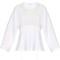 Silk-panel cotton-jersey top