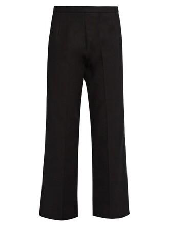 cropped cotton black pants