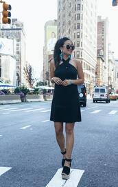 gracefullee made,blogger,dress,jewels,sunglasses,shoes,black dress