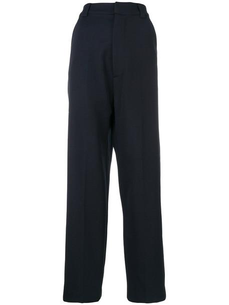Erika Cavallini women cotton blue wool pants