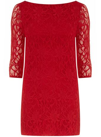V-back bodycon lace dress - Dorothy Perkins United States