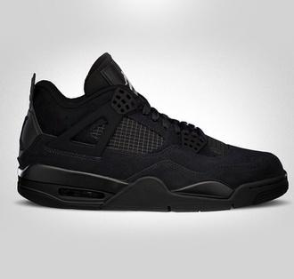 shoes black nike air max jordans jordan 4 black cat wavy mens shoes basketball shoes retro jordans nice shoes airjordan4 blackcat mens high top sneakers