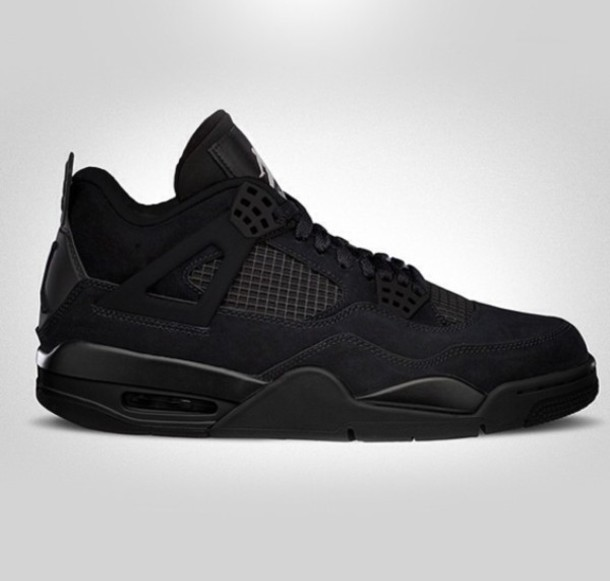 best website 52df1 94950 ... wholesale shoes black nike air max mens high top sneakers airjordan4  blackcat jordans basketball shoes retro