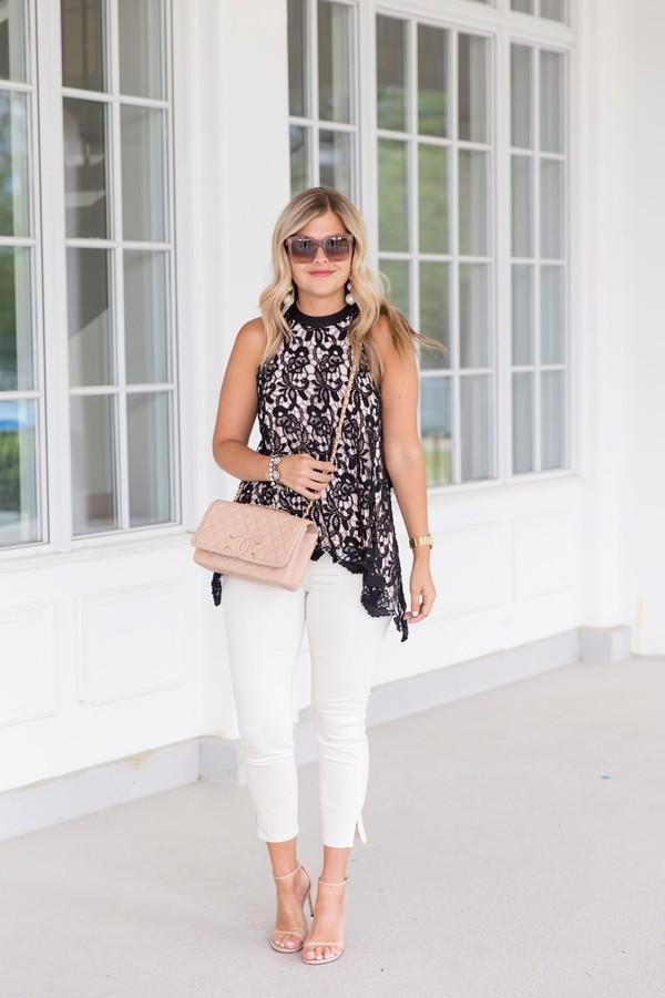 25c983ce35a suburban faux-pas blogger sunglasses jewels blouse pants shoes bag.