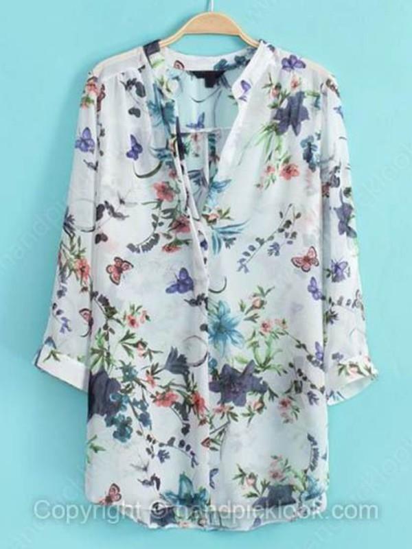 blouse floral blouse