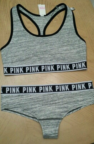 underwear pink by victorias secret black grey lingerie set