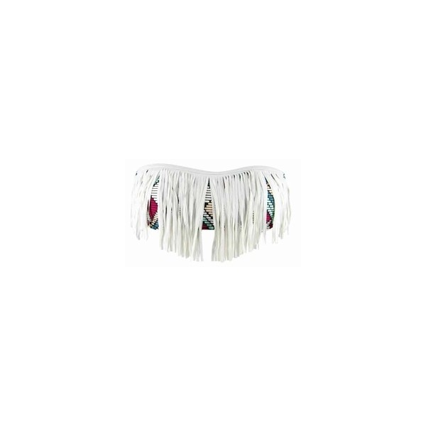L*Space Dolly Fringe Bandeau Bikini Top in Multi - Polyvore