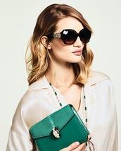bag,necklace,sunglasses,rosie huntington-whiteley,shirt,green bag,chain bag