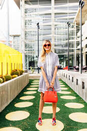 barefoot blonde,blogger,dress,shoes,bag,jewels,red bag,handbag,sandals,mini dress,summer outfits