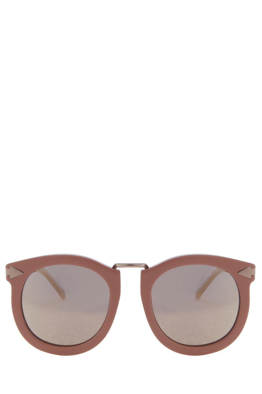 fa0bfdbc4bd Karen Walker Helter Skelter Sunglasses - Vintage Demi - Wheretoget