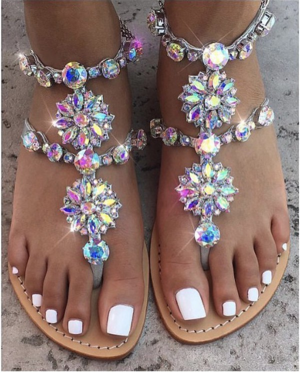 Shoes Jewels Sandals Diamonds Glitter Wheretoget
