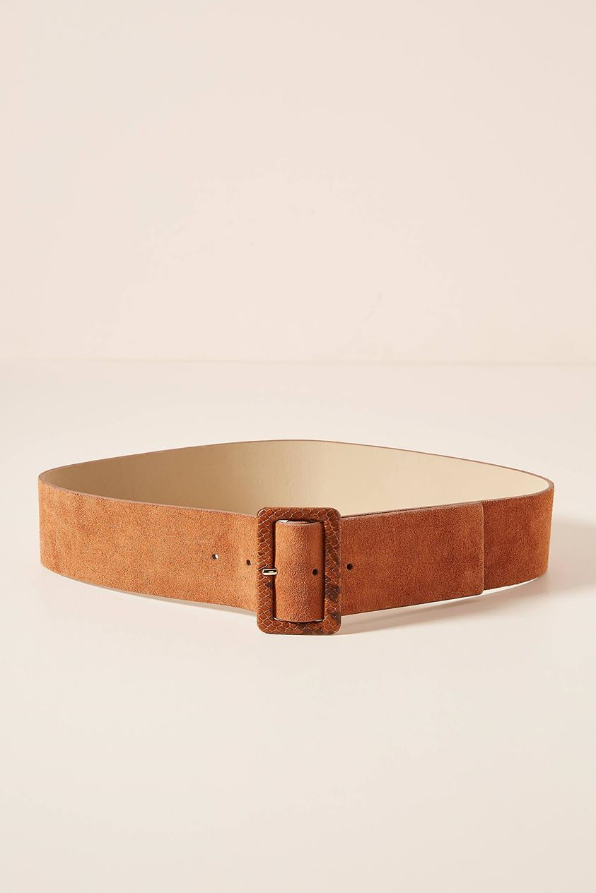 Karin Embossed Buckle Belt by Linea Pelle in Brown